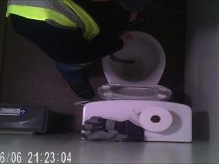 Delivery Driver Taking A Piss Hidden Camera