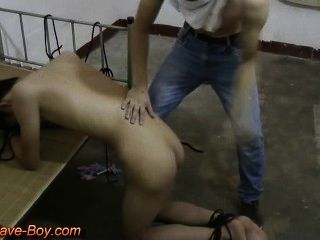 Cute Asian Slave Boy Got Ass Spanking