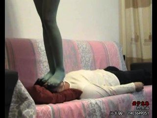 Chinese Girl Pantyhose Trample