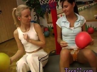 Cindy And Amber Ravaging Each Other In The Gym