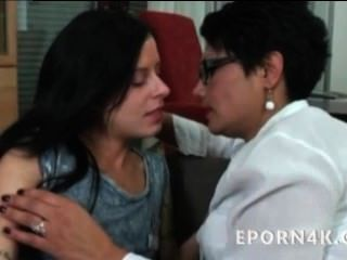 Hot Mom Fucking & Licking Her Daughter Horny