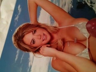 Cum Tribute To Kate Upton 2014 Calendar Bikini Pic