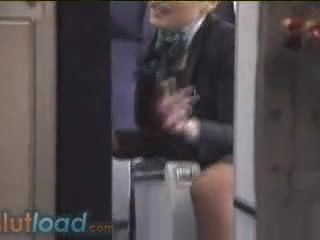 French Air Stewardess Fly Attendant Real Show