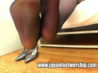 Foot Fetish - Smelling Nylons Feet