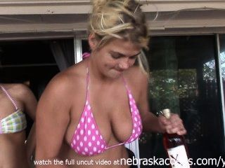 Alcoholic Sorority Chicks Getting Naked And Wild