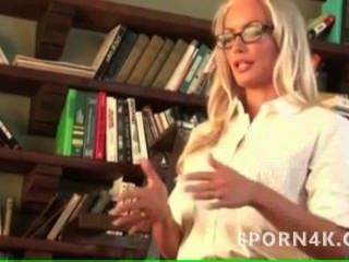 Horny Busty Blonde Teacher Get Licked By Her