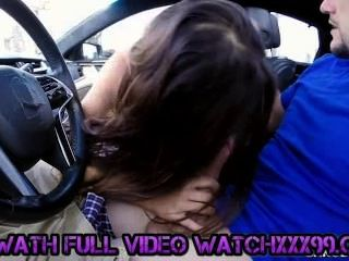 Valentina Vixen Gives Head In The Car