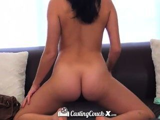 Sexy Elastic Brunette Gets A Very Good Fuck On The Casting