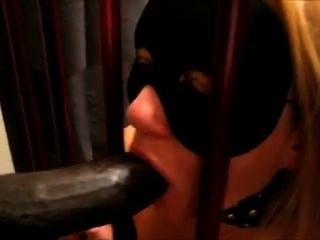 Naughty Blonde Wife Punished By Hubby To Blow A Big Black Cock