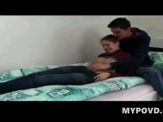 Teen Couple Fucking For The Very First Time!