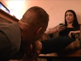 A Girlfriend Foot Licking,kissing And Worship Part1