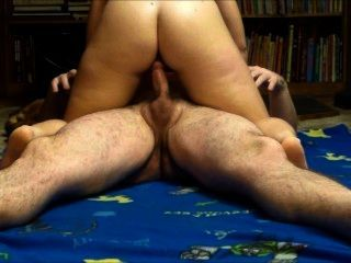 Oiled Milf Rides Cock