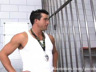 Blonde Milf Fuck A Hard Cock In Jail