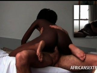 White Stud Gets Hard Cock Ridden In Africa