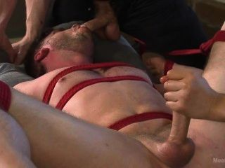 Man Edged And Made To Cum