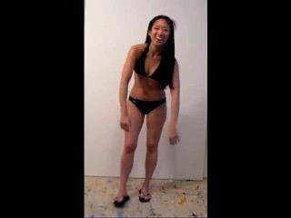 Marie Tomeoki Hot Asian Girl Bikini Demonstration