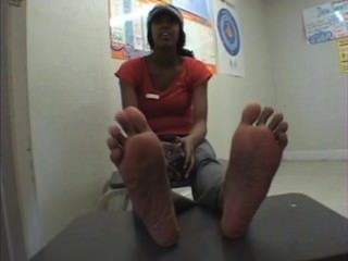 Slim Ebony Big Feet