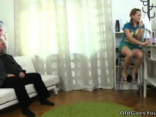 Old Goes Young -sveta And Her Lover Bring An Older Friend Who Loves Younger