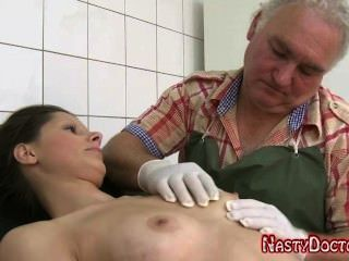 Dirty Old Russian Gynecologist Fucks Teen