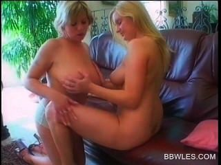 Bbw Blonde Seductress Gets Hot Cunnilingus