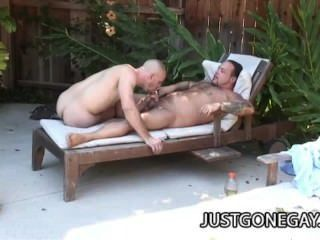 Park Wiley: Fat Old Man Outdoor Sex With Pool Guy