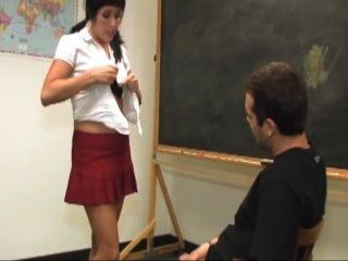 Busty Schoolgirl Gets Covered With Semen