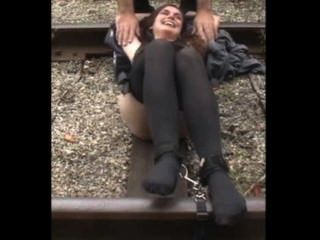 Tickled On Railroad Tracks