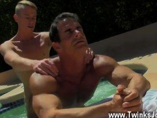 Naked Men Daddy Poolside Prick Loving
