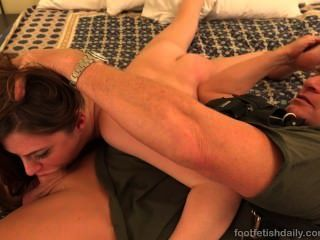 Brunette Fucked And Takes A Cum Shot On Her Toes
