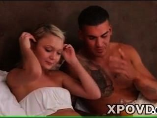 Young Blonde Licking Sexy Tatto Men