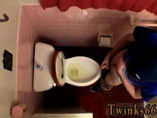 Gay Cock Unloading In The Toilet Bowl