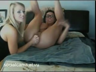 Two Girls Play On Webcam