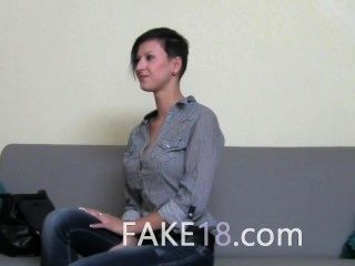 Stunning Brunette Girl Fucking On The Chair