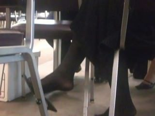 Candid Nylons - Courthouse Dangle