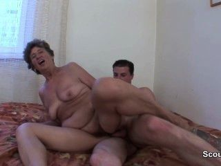 Hairy Old Mother Get Anal Fucked By German Step-son