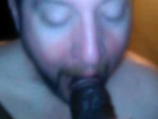 Sucking My Black Cock For Me