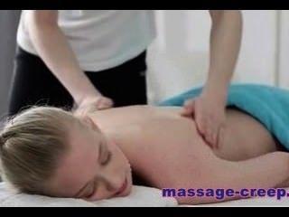 Sensual Blonde Teen Inga Came For A Massage