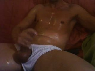 White Ribbed Underpants, Oily Jerk-off
