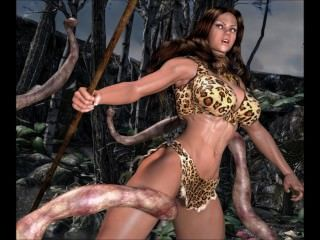 Cavewoman Vs Tentacles