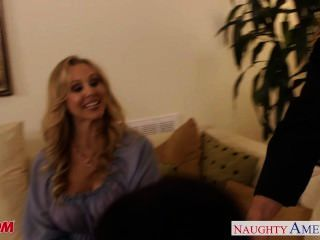 Busty Moms Brandi Love, Eva Karera And Julia Ann Suck Cock