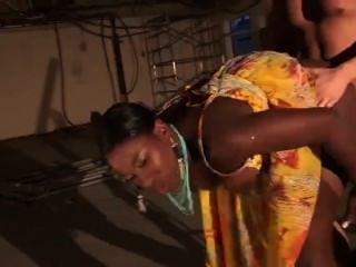 Big Black Gyal Melvina Raquel Gets Humped By Workman Tony James