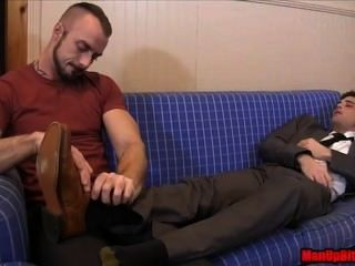 Tickling The Debt Collector Jessie Colter Lance Hart Bondage Footjob