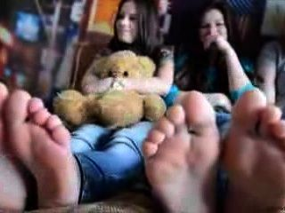 3 Girls Foot Tickling