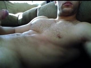 Huge Load On Big Hairy Chest