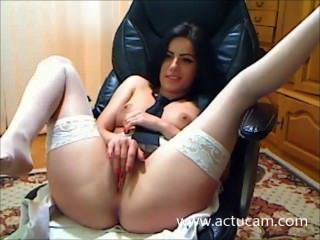 Hungarian Camgirl Smoke And Play With Her Pussy (1)