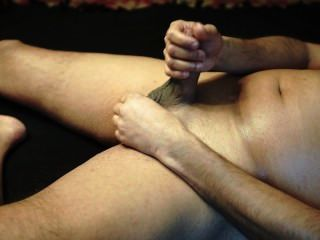 Masturbating On The Bed