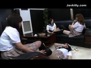 A Horny Group Of Japanese Schoolgirls