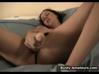 Busty Gianna Playing Her Pussy