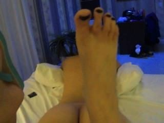 Brazilian Brunette Girl Give Footjob