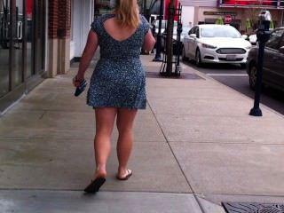 Short Skirt Teen Windy Day